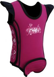 TWF Baby Wrap Wetsuit - Heart Pink