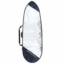 Ocean & Earth Barry Basic 7'6 Fish Board Bag Cover 2021 - Silver - Full View