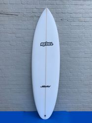 Rebel Bean Surfboard - White