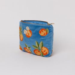 Elizabeth Scarlett Orange Makeup Bag - Blue Velvet