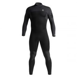 C Skins Session 4/3mm Back Zip Mens Wetsuit 2021 - Black Carbon