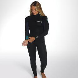 C Skins Surflite 5/4/3mm Womens Back Zip Wetsuit 2020 - Black/Blue
