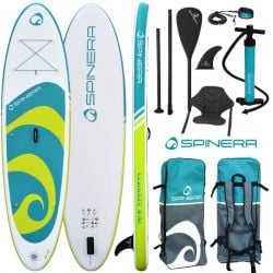 """Spinera Classic 9'10"""" ISUP Paddle Board 2021 - White/Turquoise"""