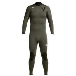 Xcel Comp 3/2mm Mens Chest Zip Wetsuit 2020 - Dark Forest