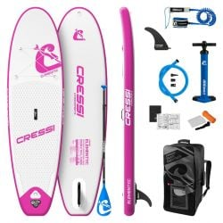 """Cressi Element Allround 9'2"""" ISUP Stand Up Paddle Board Set 2021 - White/Pink"""