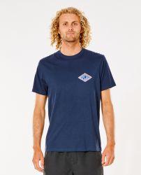 Rip Curl Salt Water Rubber Soul Mens T-Shirt - Navy - Front