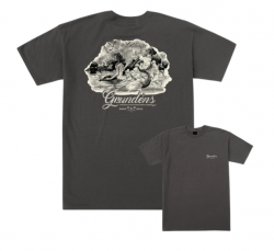 Dark Seas X Grundens Story Book T Shirt - Tar