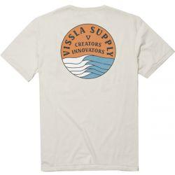 Vissla Stacked Upcycled T-Shirt - Bone