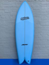 "Rebel Retro Fish 5'10"" Surfboard - Blue"