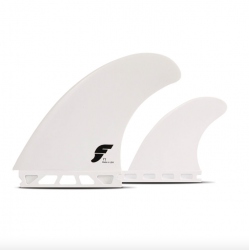 Futures T1 Thermotech Twin + Trailer Fins in White