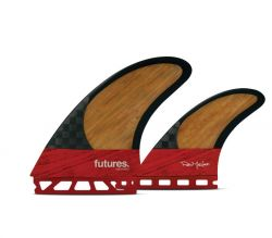Futures Machado Blackstix Twin + Trailer Fin - Red