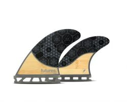 Futures Rasta Honeycomb Bamboo Quad Fins - Medium