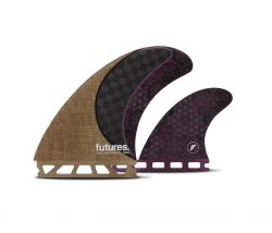 Futures Rasta Honeycomb Twin Fins + Trailer - Brown
