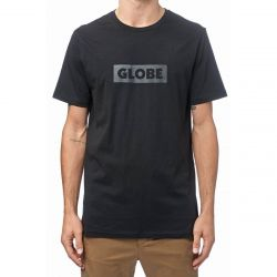 Globe Box T Shirt in Black