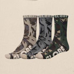 Globe Eco Camo Sock 3 Pack - Camo