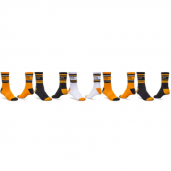 Globe Bengal Sock 5 Pack - Gold