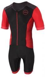 Zone3 Aquaflo Plus Short Sleeve Trisuit 2021 - Black/Red
