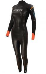 Zone3 Aspect Womens 'Breaststroke' Wetsuit 2021 - Black - Front