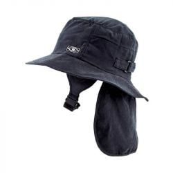 Ocean & Earth Indo Surf Hat Stiff Peak - Black