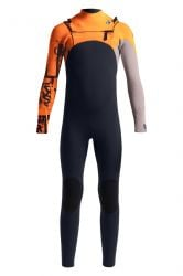 C Skins Session 4/3mm Chest Zip Kids Wetsuit 2021 - Black / Orange