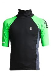 C Skins X Junior Short Sleeve Rash Vest - Green