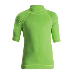 C Skins UV Junior Short Sleeve Blank Rash Vest - Flo Green