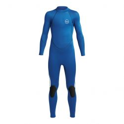 Xcel Axis 3/2mm Youth Flatlock Back Zip Wetsuit 2021 - Blue - Full View