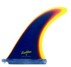 Koalition California Classic 8.5 Inch Longboard Fin in Blue/Yellow