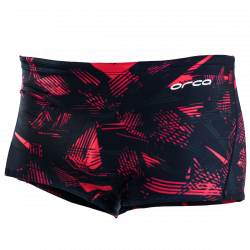 Orca Men's Square Leg Swimmers 2021 - Black/Red - Front