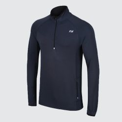 Zone 3 Mens Performance Culture Long Sleeve Mid Layer with 1/4 length Zip