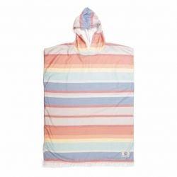 Ocean & Earth Sun Kissed Womens Hooded Poncho 2021 – Pastel Stripe