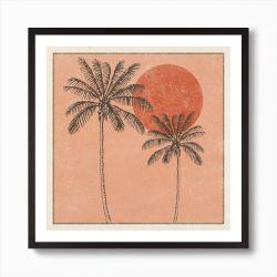 Cai and Jo Golden Palms Print - 12x12