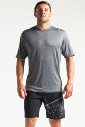 C Skins UV Mens Short Sleeve T-Shirt - Black Heather