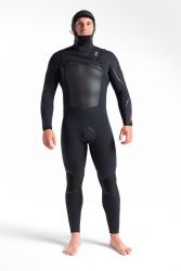 Wired+ 6/5mm Mens Hooded Chest Zip Wetsuit 2022