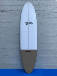 Rebel Mini Mal Surfboard - Grey Tail Dip