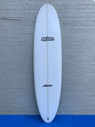 Rebel Mini Mal Surfboard - White