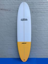 Rebel Mini Mal Surfboard - Yellow Tail Dip