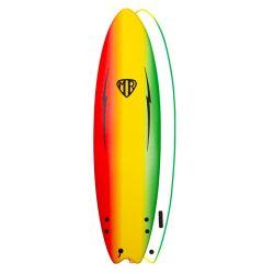 Ocean & Earth 5ft 6 MR Ezi Rider Twin Fin Foam Surfboard - Rasta