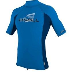 O'Neill Youth Premium Skins S/S Rash Guard Turtleneck - Blue - Front