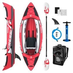 "Cressi Namaka Single Inflatable 8'2"" Kayak 2021 - Red/White"