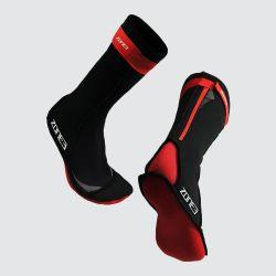 Zone3 Neoprene Swim Socks - Black\Red
