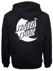 Santa Cruz Moon Dot Mono Hoodie in Black