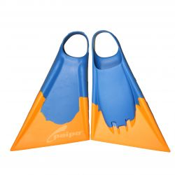 Paipo Bodyboard/Swim Fins - Blue/Yellow