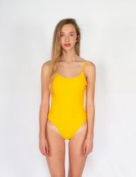 Pukas Womens Slim Swimsuit - Yellow