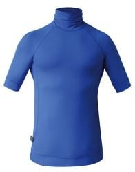 C Skins UV Junior Short Sleeve Blank Rash Vest - Blue