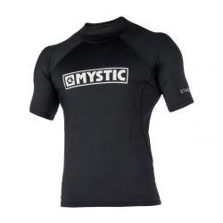 Mystic Mens Star Short Sleeve Rashvest - Black - Front