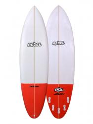 Rebel Bean Surfboard - Red Tail Dip