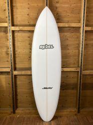 Rebel Bean Surfboard - White