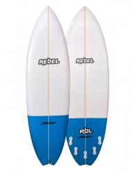 "Rebel Hybrid Shortboard 6'0"" Surfboard - Blue Tail Dip"