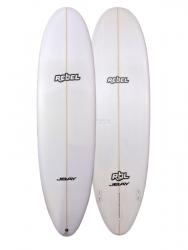 Rebel Magic Carpet Surfboard - White
